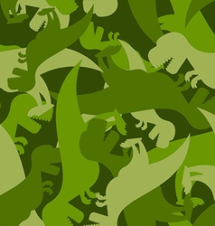 Military pattern dinosaur Army texture of vector image vector image