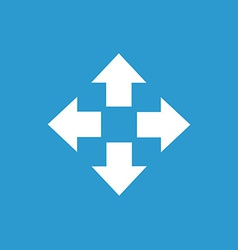 Move icon white on the blue background vector