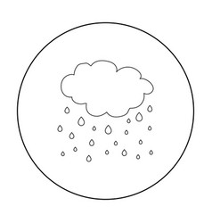 rain icon in outline style isolated on white vector image vector image