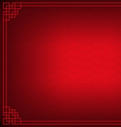Red chinese fan abstract with black background vector