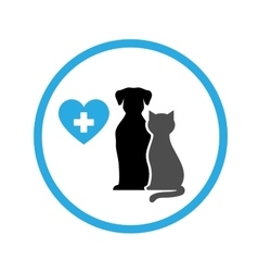 Round veterinary icon vector