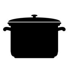 Saucepan black color icon vector