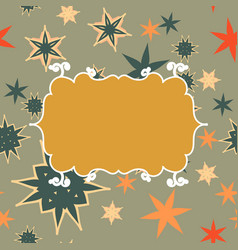Scrapbooking template in brown with place for text vector