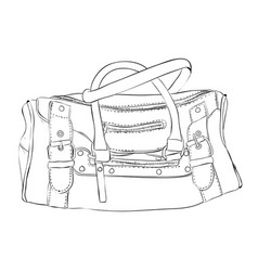 sketch sports bag with pockets vector image vector image