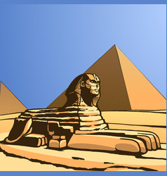 Sphinx ancient statue vector