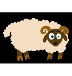 surprised lamb vector image