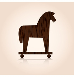 Wood trojan horse eps10 vector