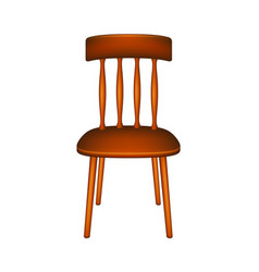 wooden chair in retro design vector image