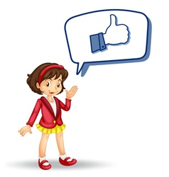 girl with callout and thumb vector image