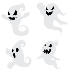 Simple spooky ghosts3 vector
