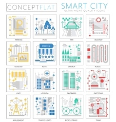 Infographics mini concept smart modern city vector
