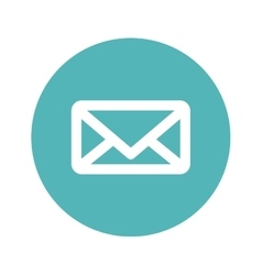 Message or email button thumbnail image vector