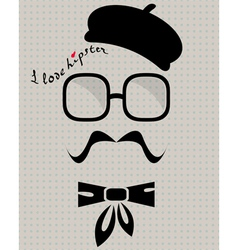 Hipster in beret vector