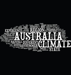 Australia climate text background word cloud vector