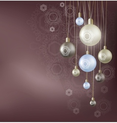 Christmas background with hanging ball vector