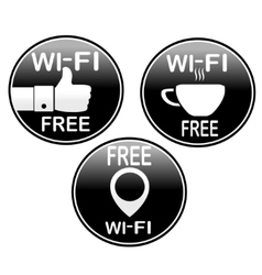 Three wi-fi icons vector image