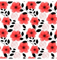 Floral seamless pattern background vector