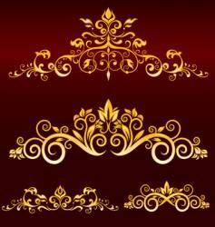 metallic scrolls vector image