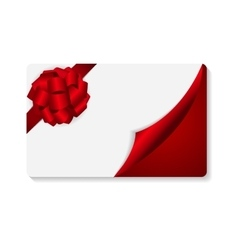 Gift card with bow and ribbon vector