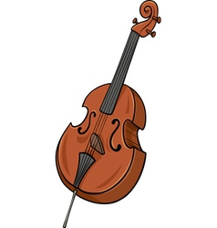 Double bass cartoon clip art vector