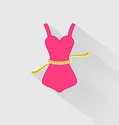 Weight Loss The measurement of the waist vector image