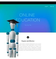Online education concept template vector