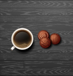 Coffee with candy vector
