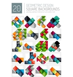 Mega collection of square geometric backgrounds vector image