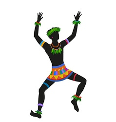 Ethnic dance hawaiian man vector