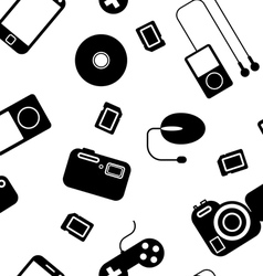 Electronic gadgets seamless pattern vector