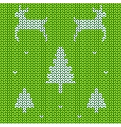 Christmas traditional ornamental knitted pattern vector