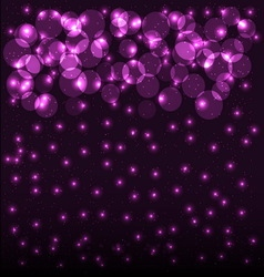Abstract bokeh background with shining particles vector image vector image