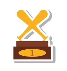Baseball trophy championship isolated icon vector