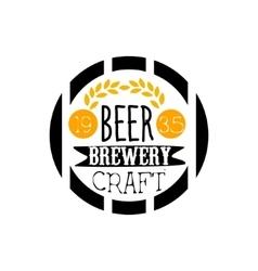 Beer Brewery Logo Design Template vector image