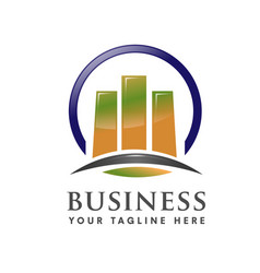 Business marketing finance and property logo vector