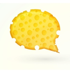 Cheese chat bubble vector image vector image
