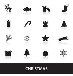 christmas icons eps10 vector image vector image
