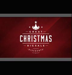 Christmas sale sticker label design on window vector