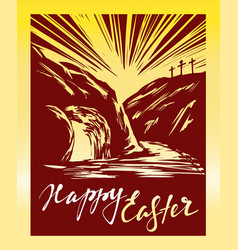 easter jesus christ rose from the dead sunday vector image vector image