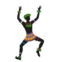 Ethnic dance hawaiian man vector