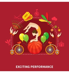 Exciting perfomance design vector