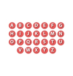 Flat icons alphabet set vector image