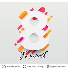 Greeting card for international women day vector