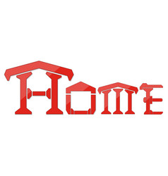home logo design template isolate on white vector image vector image