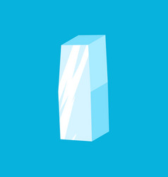 letter i ice font icicles alphabet freeze vector image