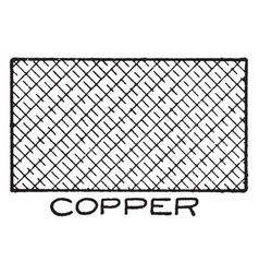 Mechanical drawing cross hatching of copper vector