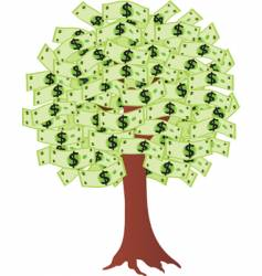 money tree with dollars vector image vector image