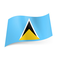 National flag of saint lucia white black and vector