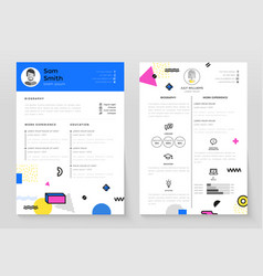 Personal cv- set of modern template vector