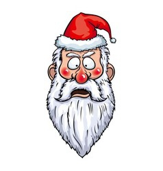 Santa claus alarmed head vector